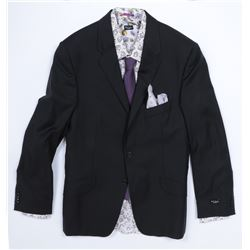 """""""Simmons"""" black suit and floral accessories ensemble from Transformers: Dark of the Moon."""