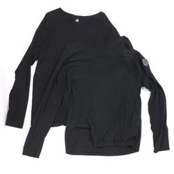 """""""NEST"""" (2) black long-sleeve shirts from Transformers: Dark of the Moon."""