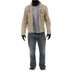 """""""Cade Yeager"""" tan denim jacket and jeans ensemble from Transformers: Age of Extinction."""