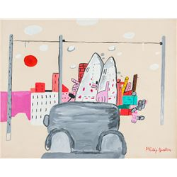 US New York Expressionist OOC Signed Philip Guston
