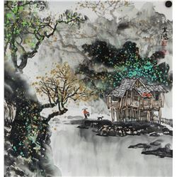 Huang Yunhong b.1974 Chinese Watercolor on Paper
