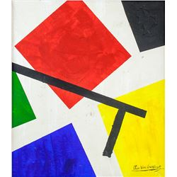 Dutch Abstract OOC Signed Theo Van Doesburg