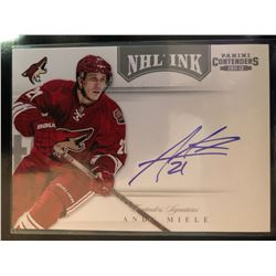 2011-12 Panini Playoff Contenders Andy Miele #51 NHL Ink