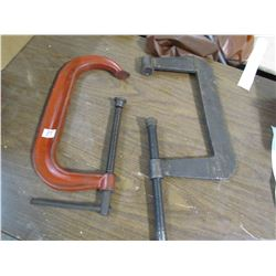 "2 LARGE C-CLAMPS (12"" OPENING)"