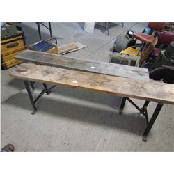2 BENCHES (METAL) *BASES 5'*