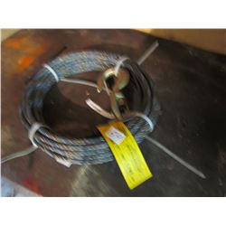 CABLE W/HOOK (WORKLOAD) *3780 LBS*