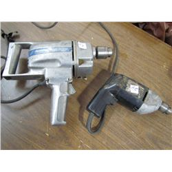 "2 ELECTRIC DRILLS *½"" & 3/8""*"