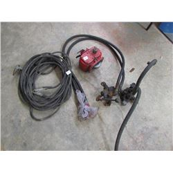 HYDRAULIC HOSE CONTROL, BOOSTER CABLES, GEAR BOX