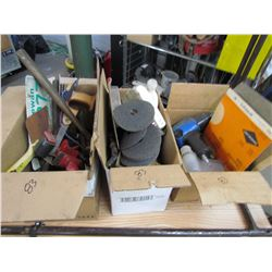"""LOT OF TOOLS, ½"""" AIR IMPACT, CHAIN SAW, CHAIN, SANDING DISCS"""