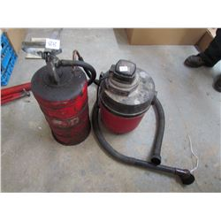 OIL TRANSFER PUMP & TANK; AND SHOP VAC