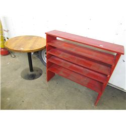 SHOP TABLE & SHELF
