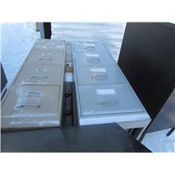 FILING CABINETS (TWO 4 DRAWER, ONE 3 DRAWER)