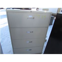 FILING CABINETS (4 DRAWER ON CASTERS) *QTY 3*