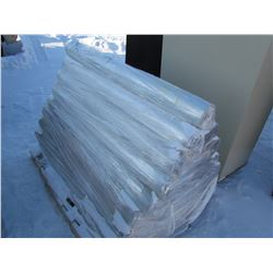 """PALLET OF POLY ROLLS (60"""" X 60"""" SHEETS, 100/ROLL) *APPROX 35 ROLLS*"""