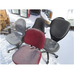 OFFICE CHAIRS (QTY 4)
