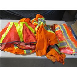 LOT OF SAFETY VESTS (11 USED, 1 NEW)
