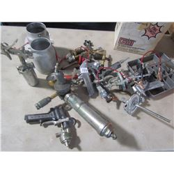 LOT OF PAINT SPRAYERS, KNOZZLES, ETC