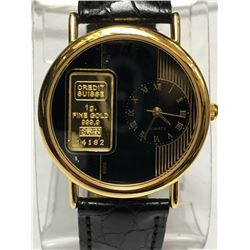 35) CREDIT SUISSE 1G FINE GOLD QUARTZ WATCH