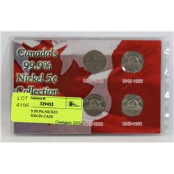 CANADA'S 99.9% NICKEL COLLECTION IN CASE
