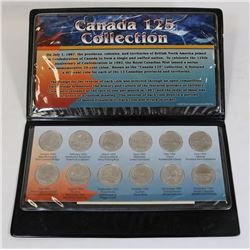 CANADA'S 125 YEAR COLLECTION IN CASE COINS