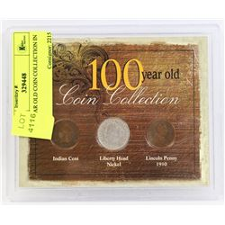 100 YEAR OLD COIN COLLECTION IN CASE