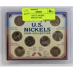 HISTORY OF U.S. NICKEL COLLECTION IN CASE