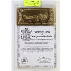 GOVERNMENT OF ANTIGUA  AND BARBUDA  23K $30 NOTE