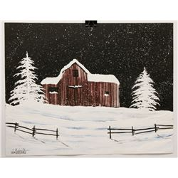 """""""NEW ENGLAND"""" 22 X 28"""" BY WILLIAM VERDULT"""