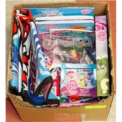 BOX OF MY LITTLE PONY COLLECTIBLES INCLUDES