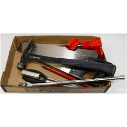 """ESTATE TOOL LOT INCLUDES SAW, JACK, 1/2"""" DRIVE,"""