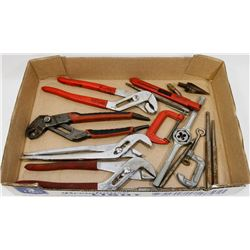 ESTATE TOOL LOT INCLUDES MILWAUKEE CHANNEL LOCK,