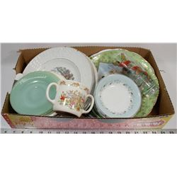 FLAT OF ASSORTED VINTAGE CHINA