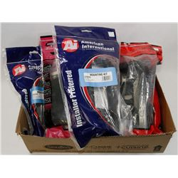 FLAT OF ASSORTED VEHICLE MOUNTING KITS FOR