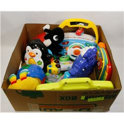 BOX OF TODDLER INTERACTIVE TOYS -