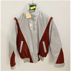 NEW SIZE 42 WINTER LINED GREY & RED JACKET.