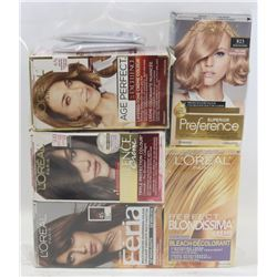 5 ASSORTED BOXES OF HAIR COLOUR
