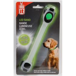 NEW DOG IT! LED BAND, FOR LEASHES AND COLLARS