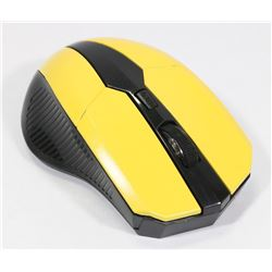 NEW YELLOW WIRELESS OPTICAL GAMING MOUSE