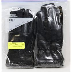2PK MENS LEATHER GLOVES SZ SMALL