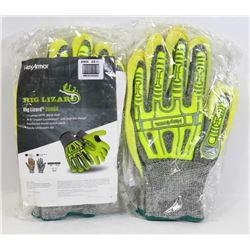 TWO PAIRS OF RIG LIZARD 2090X WORK GLOVES
