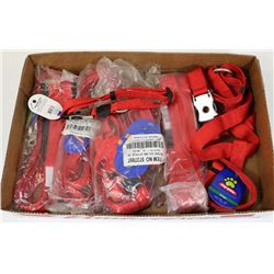 FLAT OF DOG LEASHES AND COLLARS