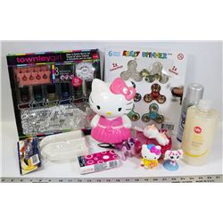 BOX OF GIRL ITEMS