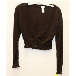 NEW BROWN ARIANNE HALF SWEATER SIZE SMALL