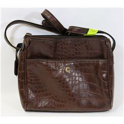 CORNELL BROWN LEATHER PURSE W/LONG