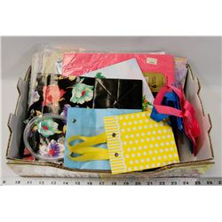 BOX OF GIFT WRAP & GIFT BAGS.