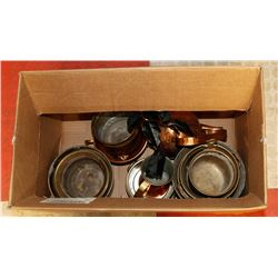 BOX OF BRASS CONTENTS.