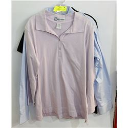 LOT OF 3 NEW SIZE MED WOMANS GOLF& DRESS SHIRTS