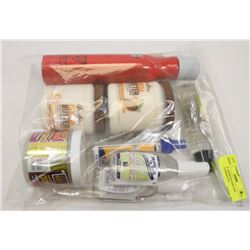 BAG OF ASSORTED HAIR AND BEAUTY PRODUCTS.