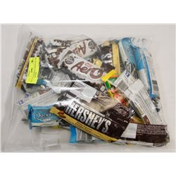 BAG OF ASSORTED CHOCOLATE AND PROTEIN BARS