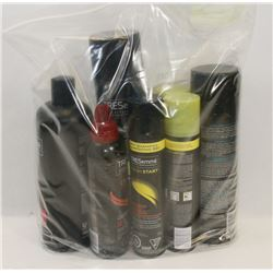 BAG OF ASSORTED HAIR CARE PRODUCTS.
